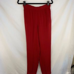 Dana Buchman Red Silk Pants - 4